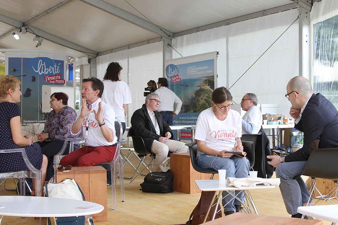 Bibliotheque vivante - Forum pour la Paix 2018 - Caen